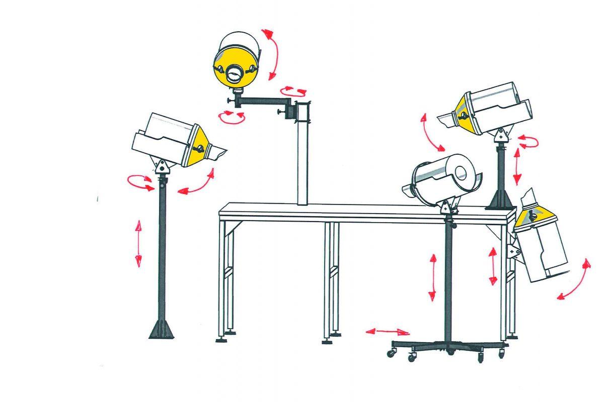 Speedman Gestellvarianten Zeichnung