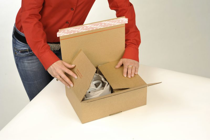 Speedbox Seitenklappen Umschlagen